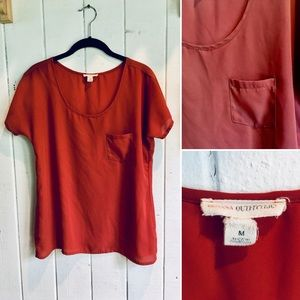 Silky Rust Colored Tee